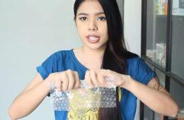Как сделать шикарную прическу при помощи пузырчатой пленки. ВИДЕО