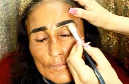 Крутой визажист смогла сделать из неухоженной женщины настоящую богиню. Видео