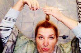 Простой трюк от парикмахера: Как подстричься самой? Смотри обучающее видео!